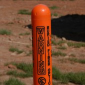 Buried Utility Warning marker