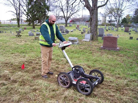 Locating a grave with GPR at S Broadway St & Noble Ave Dayton, OH 45417